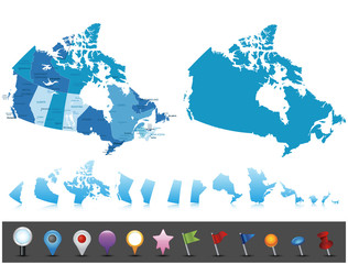 Canada - highly detailed political map.