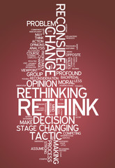 "Word Cloud ""Rethink"""