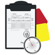 Clipboard with Soccer Referee Data Set