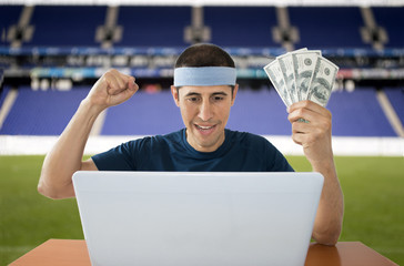 online betting dollar gaining in stadium