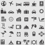 Travel complete icons set.Vector