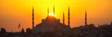 Istanbul sunset view of the Sultan Ahmet Mosque or Blue Mosque