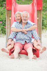 Active senior couple