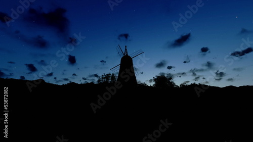 Wind Mill, timelapse sunrise to afternoon
