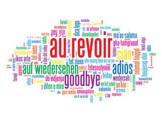 """Carte """"AU REVOIR"""" (adieux salut bon voyage bonne chance)"""