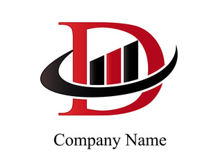 D financial logo
