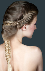 creative braid hairstyle
