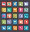Flat Media & Communication icons
