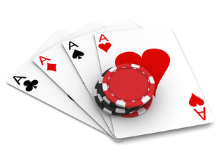 Playing Cards and Casino Chips