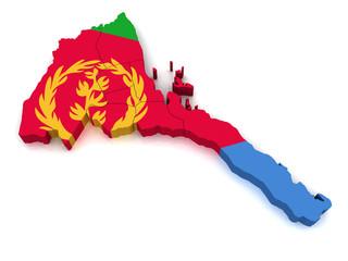 3D Map of Eritrea