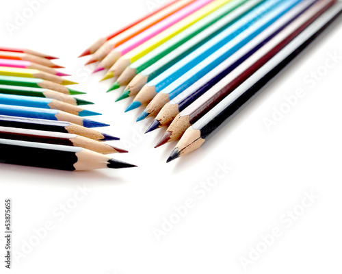 Abstract background with color pencils