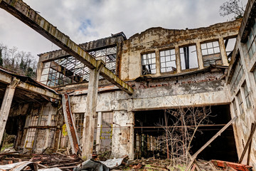 collapsed factory