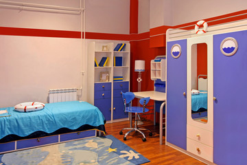 Blue child bedroom