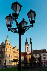 Pisek square - lanterns