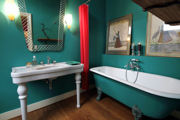 salle de bain restaurée design