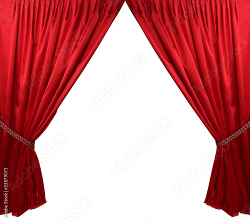 Red theater curtain background