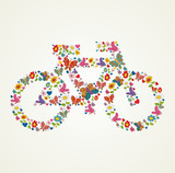 Go green spring icon bike