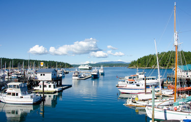 The marina at Friday Harbor on San Juan Island.