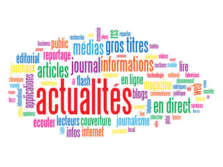 "Nuage de Tags ""ACTUALITES"" (informations médias news direct)"