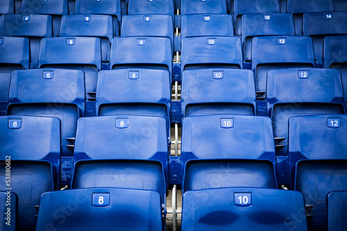 Foto op Canvas Stadion Stadium seats