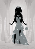 Silhouettes of a princess.