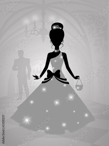 Silhouette of a princess.