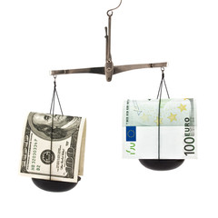 dollar and the euro in the balance