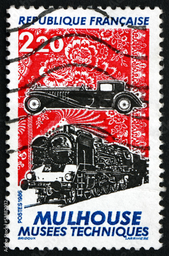 Postage stamp France 1986 Mulhouse Technical Museum