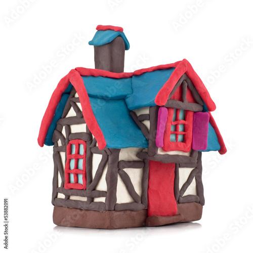 plasticine house