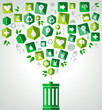 Green splash recycle bin