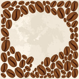 Fototapety Coffee beans bubble chat concept
