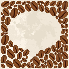 Coffee beans bubble chat concept