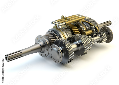 Speed gearbox on isolated background - 53882440
