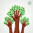 Green tree hands set
