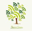 Green concept share icon tree