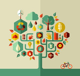 Eco sustainable life tree poster
