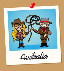 Australia travel polaroid people