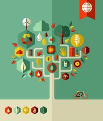 Eco conservation city tree