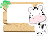 baby zebra scrapbook background