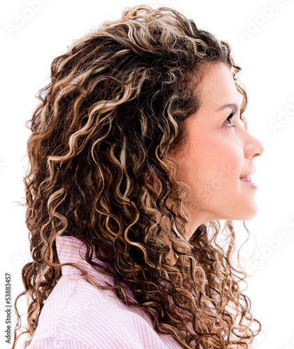 Casual woman profile
