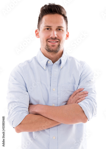 Casual man with arms crossed