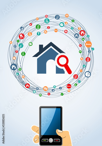 Real estate icon set mobile
