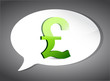 british pound On Speech Bubble illustration