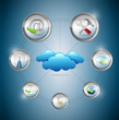 Cloud Computing setting tools concept