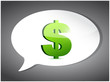 dollar On Speech Bubble illustration design