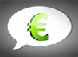 euro On Speech Bubble illustration design