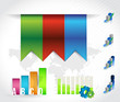 color banners infographic chart. design graphics