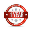 one year warranty seal illustration design
