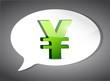 yen On Speech Bubble illustration design