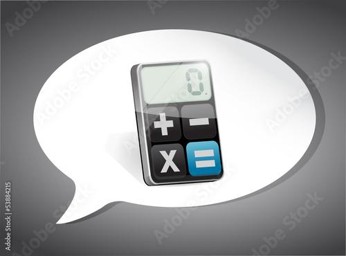 Calculator On Speech Bubble illustration design